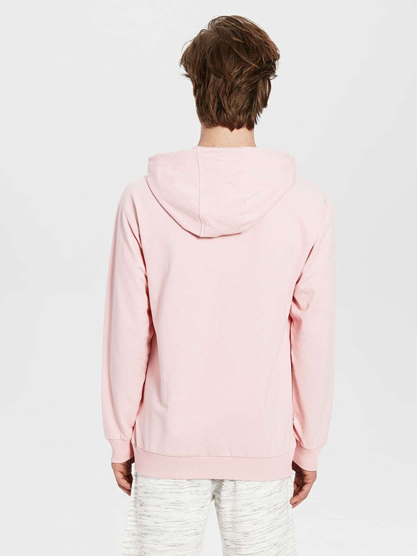 Erkek Kapüşonlu Basic İnce Sweatshirt