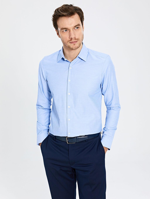 Mavi Slim Fit Uzun Kollu Gömlek 0S3137Z8 LC Waikiki