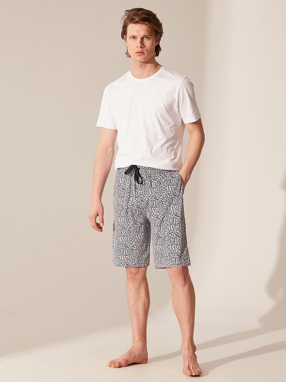 %49 Pamuk %51 Polyester Pijamalar Standart Standart Kalıp Desenli Pijama Altı