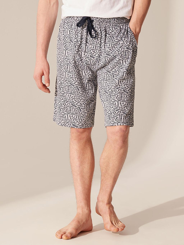 Erkek Standart Kalıp Desenli Pijama Altı