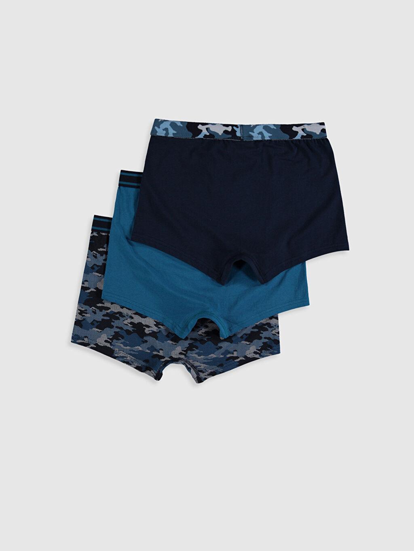 %95 Pamuk %5 Elastan İç Giyim Alt Standart Esnek Kumaş Standart Kalıp Boxer 3'lü