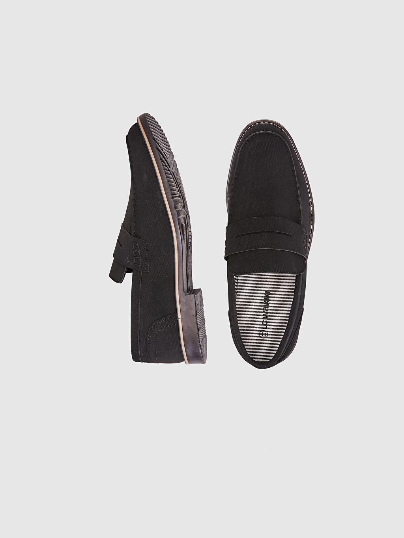 Diğer malzeme (pvc) Klasik Ayakkabı Hafif Hafızalı Sünger Bağcıksız Çizgili Penye Astar Standart Günlük Erkek Klasik Loafer Ayakkabı