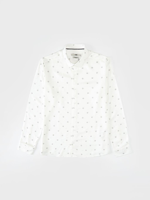 LC Waikiki Beyaz Slim Fit Viskon Gömlek