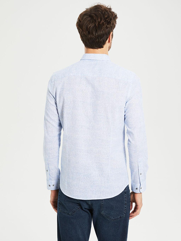 %100 Pamuk Slim Fit Pamuklu Gömlek