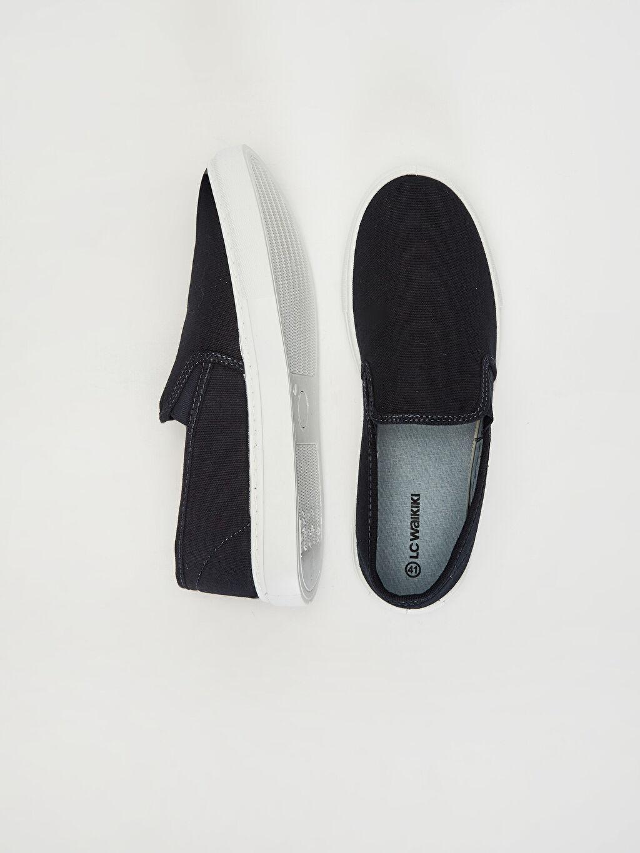 %0 Tekstil malzemeleri(%100 pamuk) Ayakkabı Erkek Günlük Slip On Ayakkabı