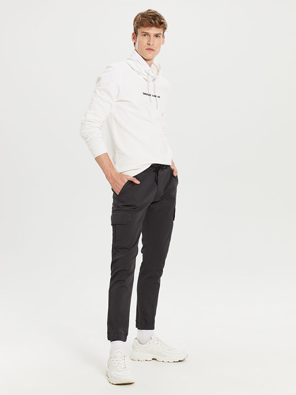 Gri Slim Fit Gabardin Kargo Pantolon 0S5460Z8 LC Waikiki