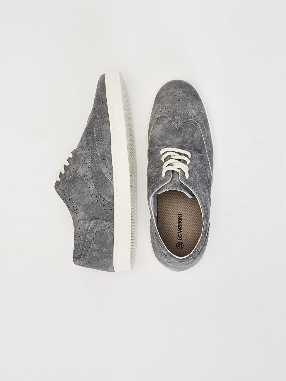 Diğer malzeme (pvc) Günlük Koku Yapmayan İç Taban Düz Klasik Ayakkabı Hafif Penye Astar Standart Bağcık Erkek Klasik Bağcıklı Ayakkabı