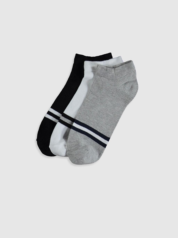 Çok Renkli Çizgili Patik Çorap 3'lü 0S6120Z8 LC Waikiki