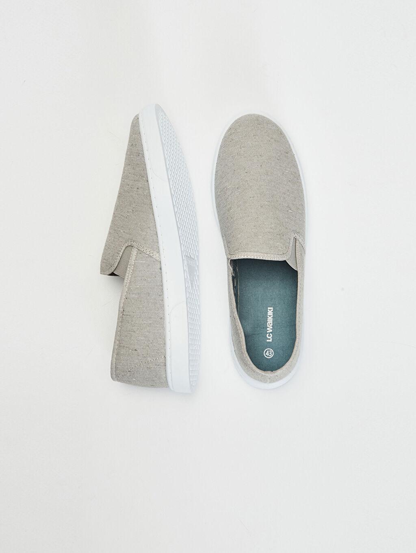 %0 Tekstil malzemeleri (%43 pamuk,%48 poliester,%9 viskoz) Dokuma Astar Standart EVA Günlük Bağcıksız Düz Sneaker Erkek Slip On Günlük Ayakkabı