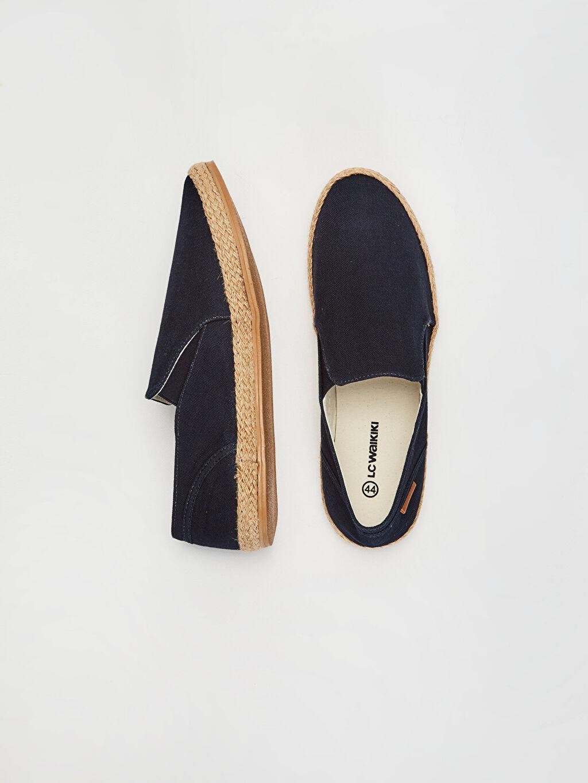 %0 Tekstil malzemeleri(%100 pamuk) Ayakkabı Erkek Slip On Espadril Ayakkabı