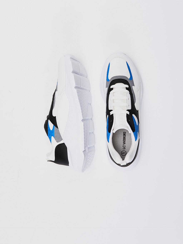 %0 Diğer malzeme (pvc) %0 Tekstil malzemeleri (%100 poliester) Hafif Penye Astar Standart Bağcık Günlük Hafızalı Sünger Düz Sneaker Erkek Renk Bloklu Sneaker