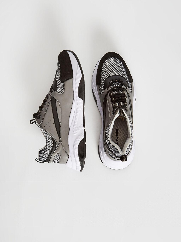 %0 Diğer malzeme (pvc) %0 Tekstil malzemeleri ( %100 polyester) Hafif Penye Astar Standart Bağcık Hafızalı Sünger Düz Sneaker Haftasonu Erkek Kalın Taban Günlük Ayakkabı