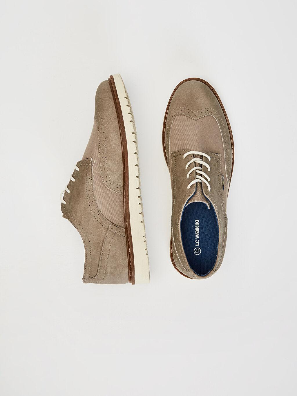 %0 Diğer malzeme (pvc) %0 Tekstil malzemeleri (%100 pamuk)  Erkek Klasik Derby Ayakkabı