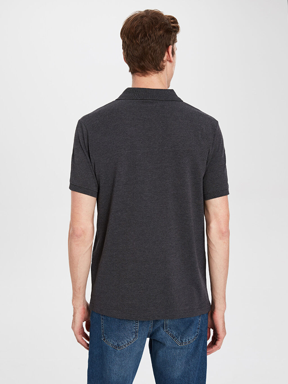 %48 Pamuk %52 Polyester Polo Yaka Basic Pike Tişört