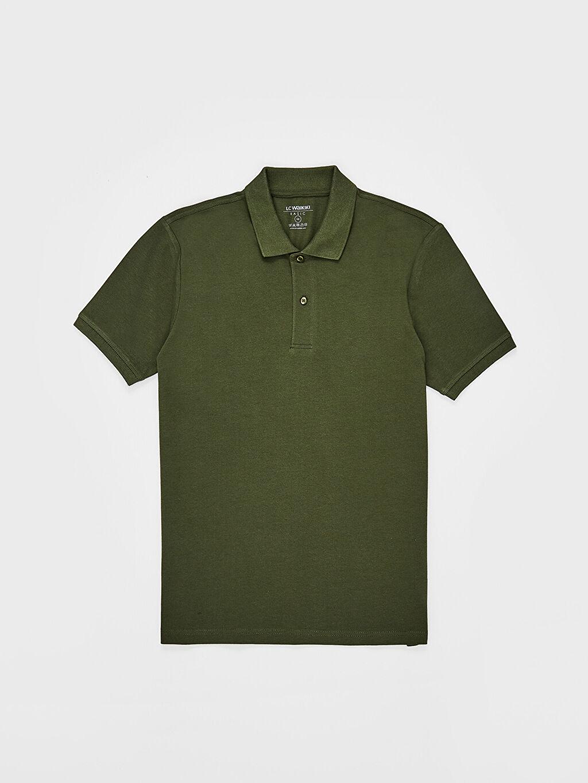 LC Waikiki Yeşil Polo Yaka Basic Pike Tişört