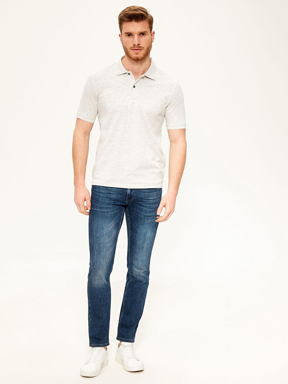 %47 Pamuk %53 Polyester Polo Yaka Basic Tişört