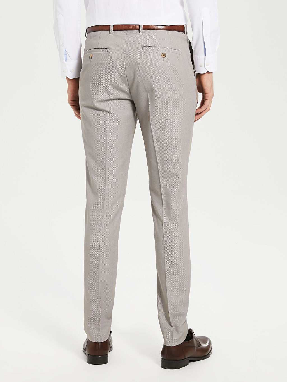 %72 Polyester %2 Elastan %26 Viskoz Ekstra Dar Kalıp Armürlü Takım Elbise Pantolou