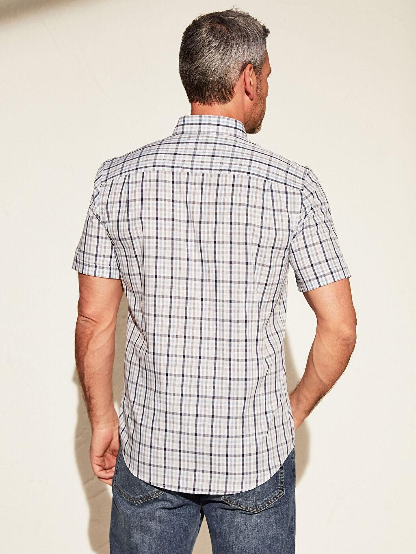 Erkek Regular Fit Ekose Kısa Kollu Gömlek