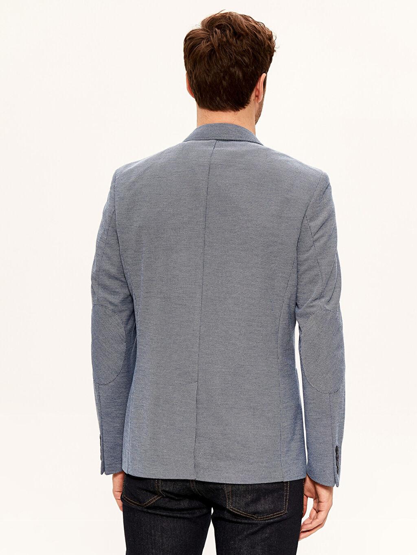 %100 Polyester Dar Kalıp Viskon Blazer Ceket