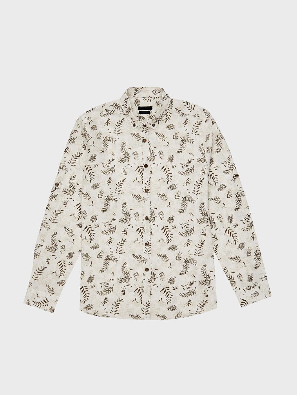 LC Waikiki Gri Aile Koleksiyonu Ekstra Slim Fit Gömlek