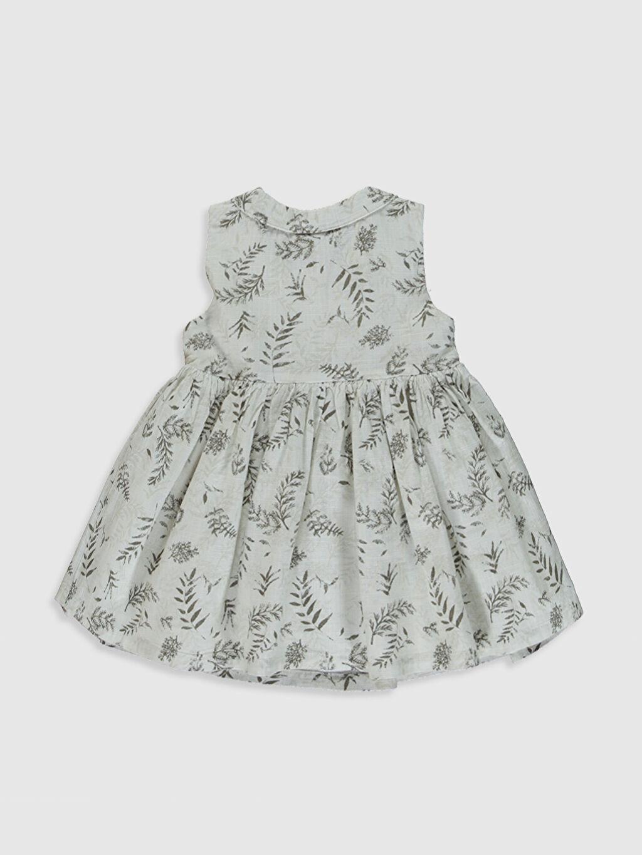 %100 Pamuk %100 Pamuk Standart Poplin Elbise Kayık Yaka Standart Baskılı Aile koleksiyonu Kız Bebek Desenli Poplin Elbise
