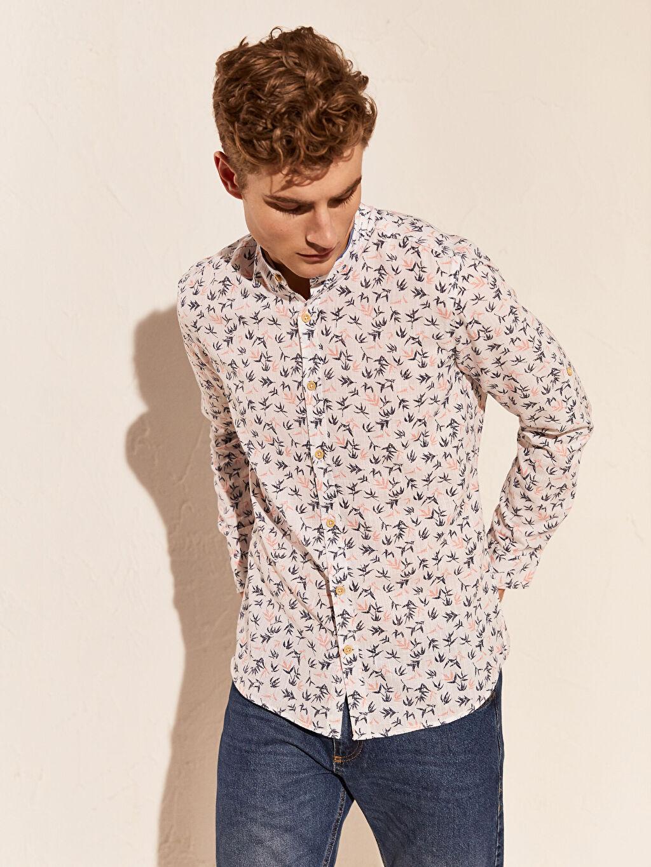 %100 Pamuk Aile Koleksiyonu Ekstra Slim Fit Gömlek
