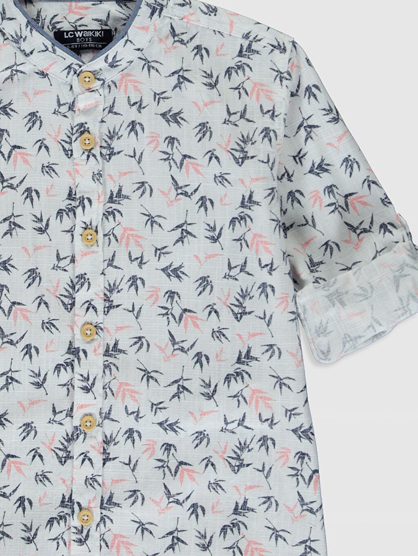 Erkek Çocuk Aile Koleksiyonu Erkek Çocuk Desenli Pamuklu Gömlek
