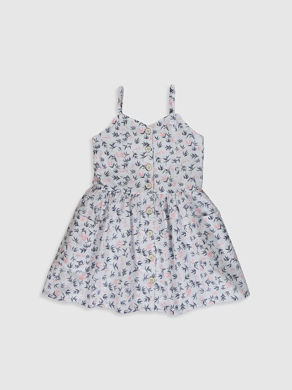 Beyaz Aile Koleksiyonu Kız Çocuk Desenli Poplin Elbise 0S8738Z4 LC Waikiki