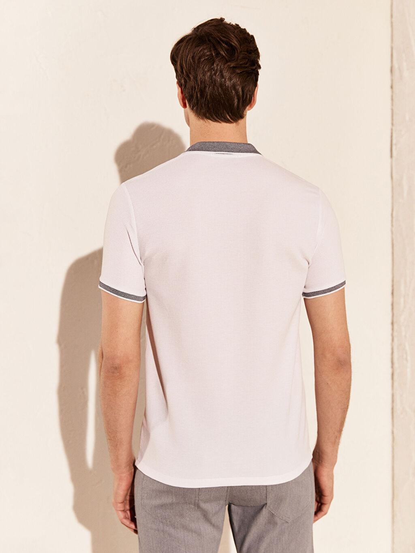 %39 Pamuk %59 Polyester %2 Elastan Polo Yaka Basic Triko Tişört