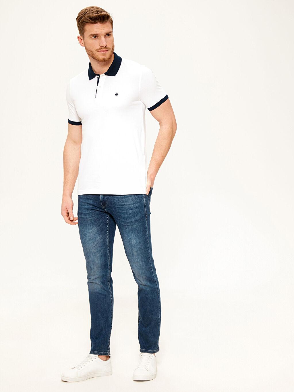 Erkek Polo Yaka Şeritli Basic Tişört