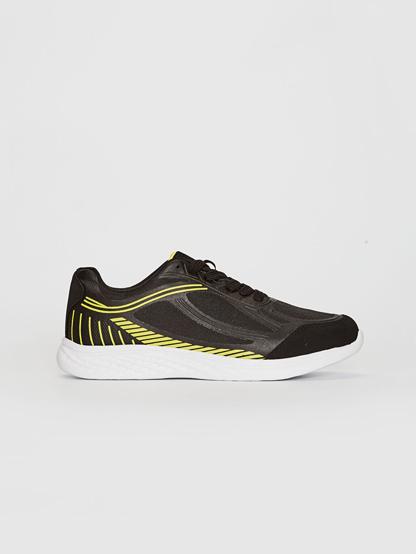 Siyah Erkek Bağcıklı Aktif Spor Ayakkabı 0SG582Z8 LC Waikiki