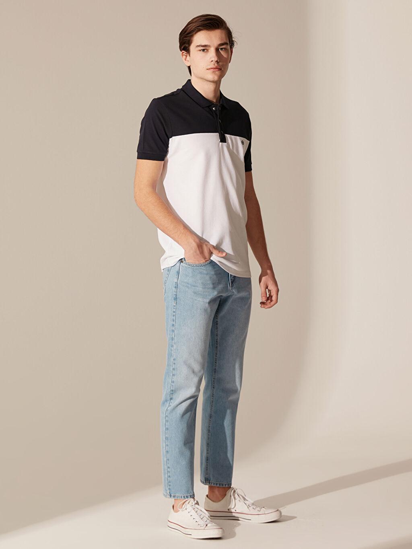 %100 Pamuk Polo Yaka Pike Tişört