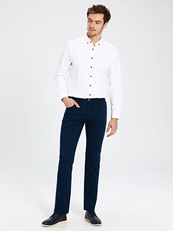 Lacivert Regular Fit Gabardin Pantolon 0SG986Z8 LC Waikiki