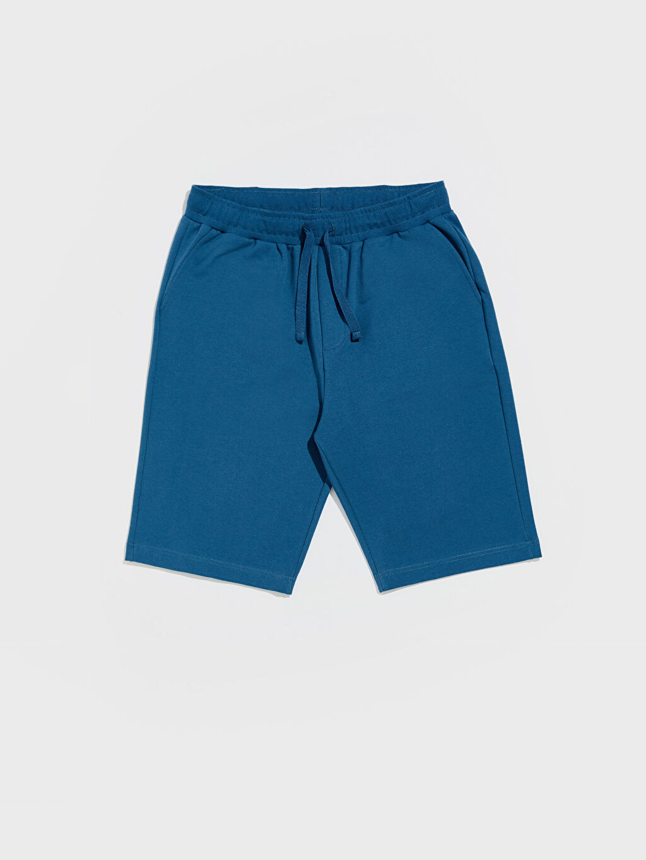 Mavi Standart Kalıp Bermuda Pijama Altı 0SH569Z8 LC Waikiki