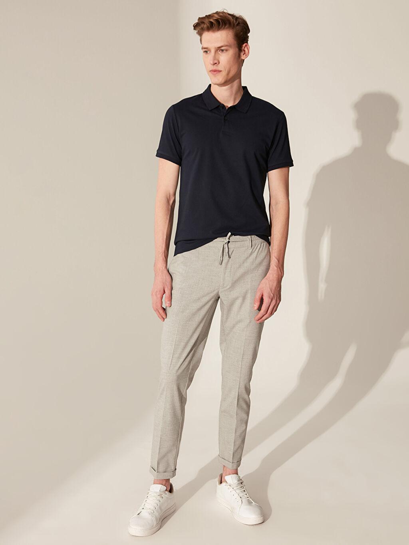 Gri Slim Fit Poliviskon Crop Pantolon 0SH700Z8 LC Waikiki