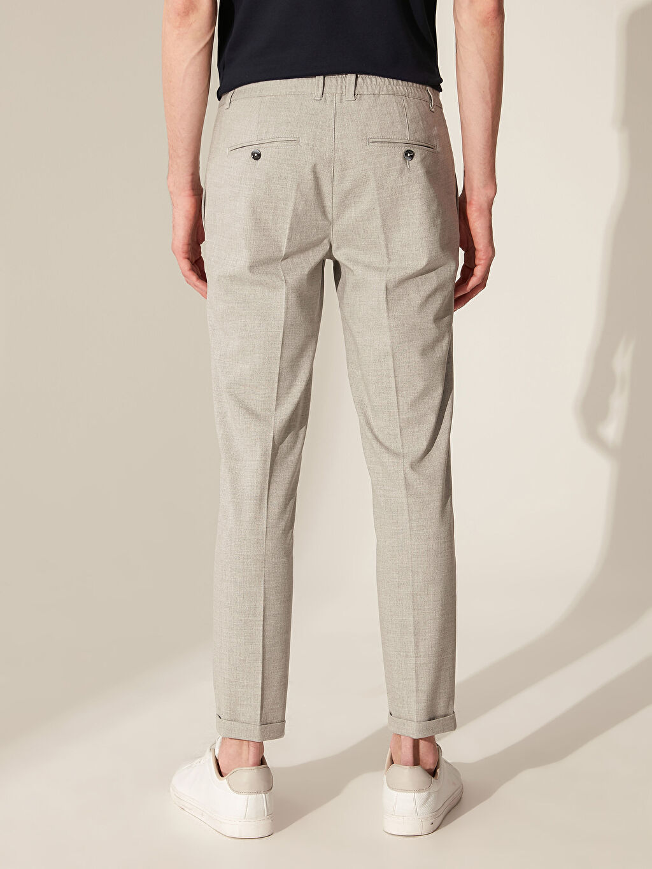 %66 Polyester %2 Elastan %32 Viskon Slim Fit Poliviskon Crop Pantolon