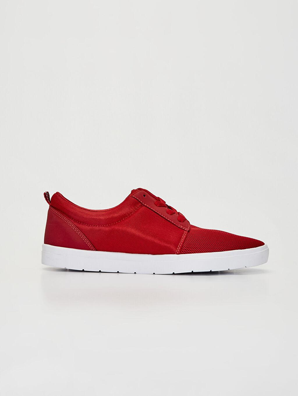 Kırmızı Erkek Bağcıklı Günlük Ayakkabı 0SM151Z8 LC Waikiki