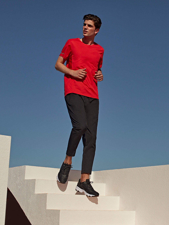 %87 Polyester %13 Elastan Standart Kalıp Aktif Spor Eşofman Altı