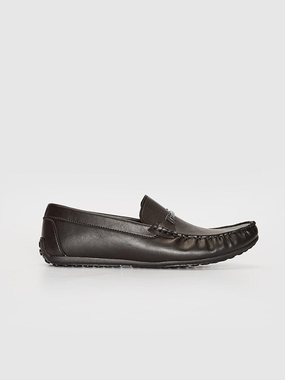 Siyah Erkek Makosen Ayakkabı 0SN390Z8 LC Waikiki