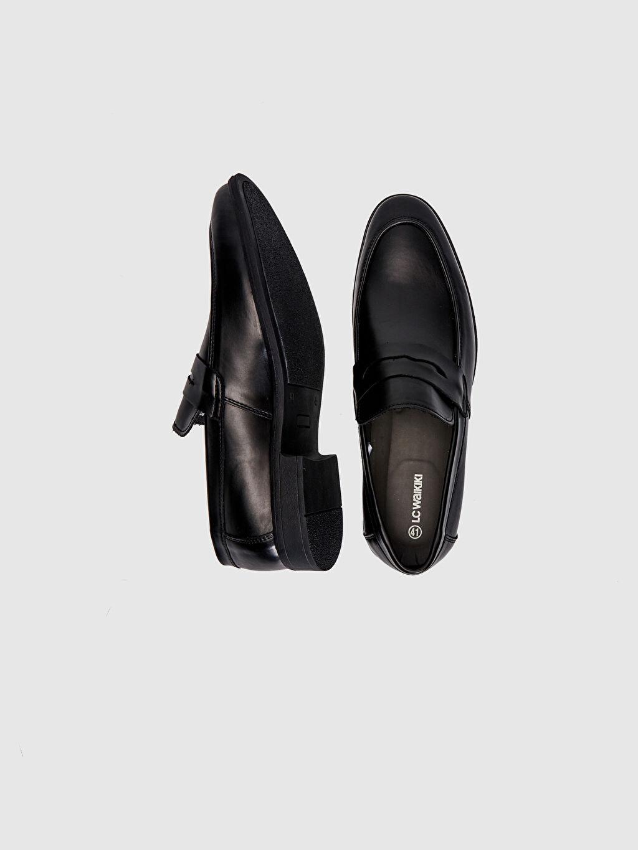 Diğer malzeme (poliüretan) Klasik Ayakkabı Standart PU Astar Günlük Bağcıksız Düz Erkek Klasik Loafer Ayakkabı