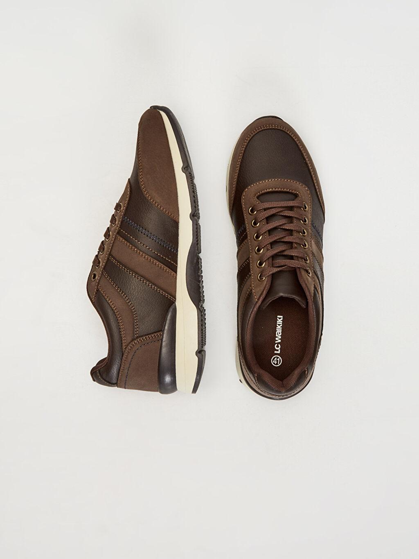Diğer malzeme (pvc) Penye Astar Standart Bağcık Günlük Düz Sneaker Erkek Vintage Ayakkabı