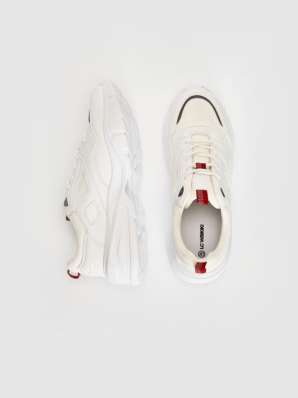 %0 Diğer malzeme (pvc) %0 Tekstil malzemeleri ( %100 polyester)  Erkek Kalın Taban Bağcıklı Aktif Spor Ayakkabı