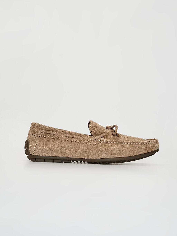 Bej Erkek Süet Hakiki Deri Makosen Ayakkabı 0SO446Z8 LC Waikiki