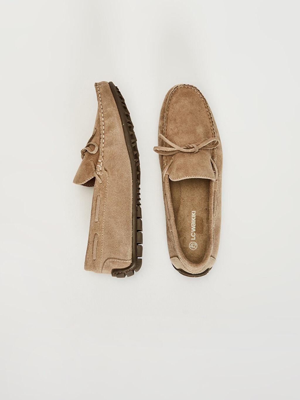 Deri Standart PU Astar Esnek Günlük Klasik Ayakkabı Bağcıksız Düz Deri Erkek Süet Hakiki Deri Makosen Ayakkabı