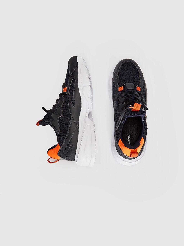 Hafif Neopren Astar Standart Bağcık Aktif Spor Ayakkabı Günlük Hafızalı Sünger Düz Erkek Kalın Taban Aktif Spor Ayakkabı