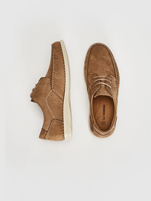 Deri Standart Bağcık PU Astar Günlük Klasik Ayakkabı Koku Yapmayan İç Taban Konforlu Düz Deri Erkek Süet Hakiki Deri Bağcıklı Klasik Ayakkabı