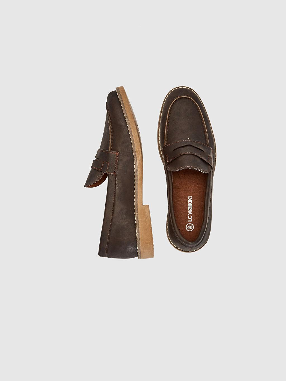 Diğer malzeme (pvc) Standart Günlük Bağcıksız Hava Alan İç Taban Düz Klasik Ayakkabı Hafif Penye Astar Erkek Klasik Loafer Ayakkabı