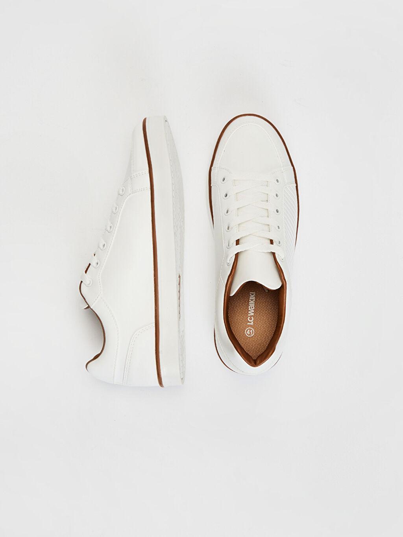Diğer malzeme (pvc) Standart Bağcık EVA Düz Sneaker Haftasonu Hafif Penye Astar Erkek Sneaker