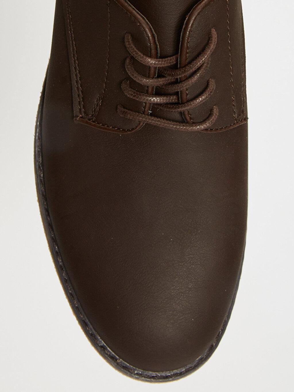 LC Waikiki Kahverengi Erkek Bağcıklı Klasik Derby Ayakkabı