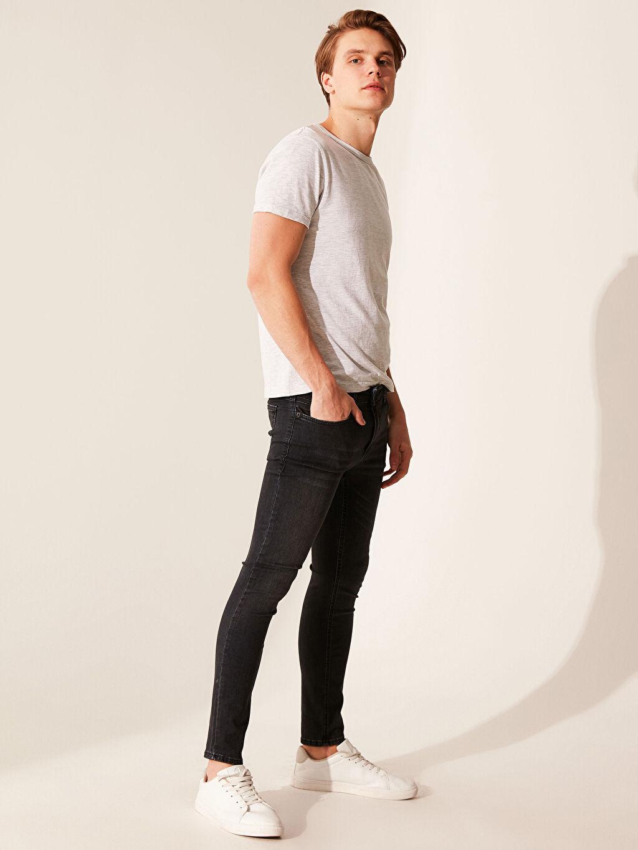 %89 Pamuk %8 Polyester %3 Elastan Normal Bel Extra Dar Jean 760 Skinny Fit Jean Pantolon